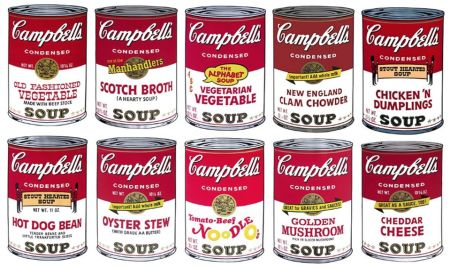 Screenprint Warhol (After) - Campbell´s Soup Can Set of 10 Serie 2