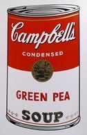 Screenprint Warhol - Campbells soup grean pee