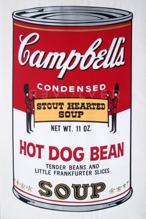 Screenprint Warhol - Campbell's Soup: Hot Dog Bean