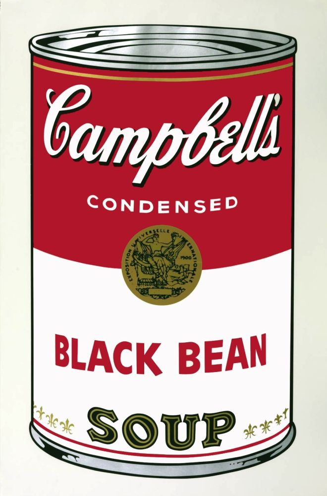 No Technical Warhol - Campbell's Soup I: Black Bean (FS II.44)
