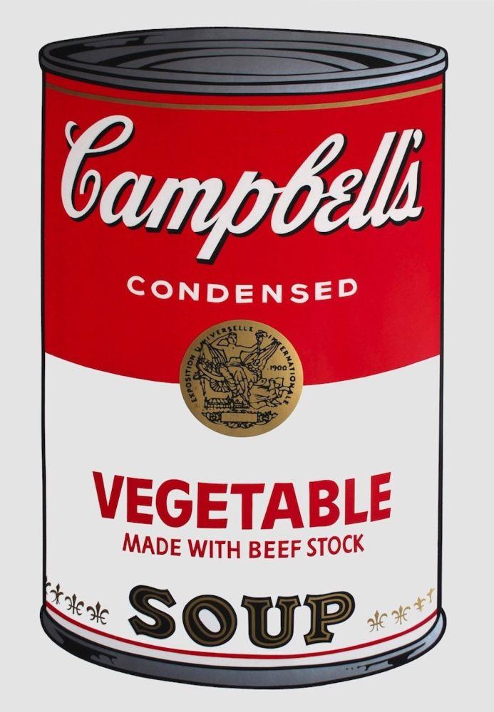 Screenprint Warhol - Campbell's Soup I: Vegetable (FS II.48)
