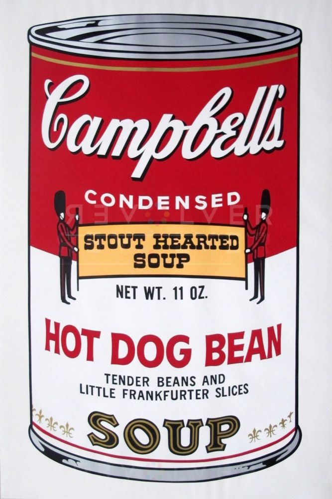 Screenprint Warhol - Campbell's Soup II: Hot Dog Bean (FS II.59)