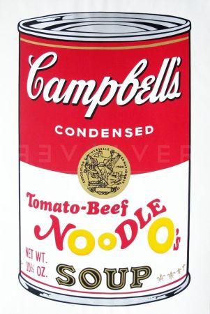Screenprint Warhol - Campbell'S Soup Ii: Tomato Beef Noodle O'S (Fs Ii.61)