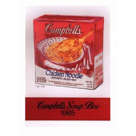 Screenprint Warhol - Campbell's Soup of Chicken Noodle