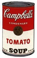 Screenprint Warhol - Campbells soup tomato