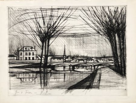 Etching Buffet - Canal a Soissons