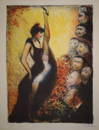 Lithograph Goerg - Cancan