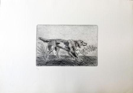 Drypoint Ligabue - Cane Setter