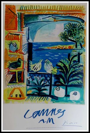 Lithograph Picasso - CANNES A.M