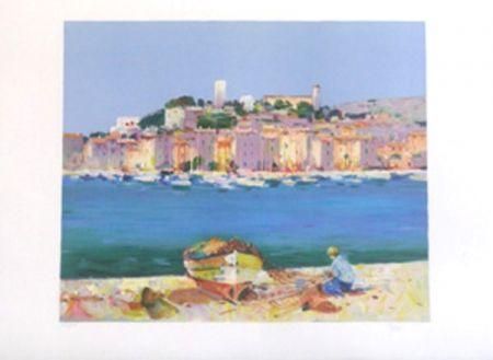 Lithograph Torre - Cannes le suquet