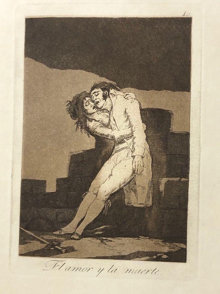 Engraving Goya - Capricho10. El amor y la muerte