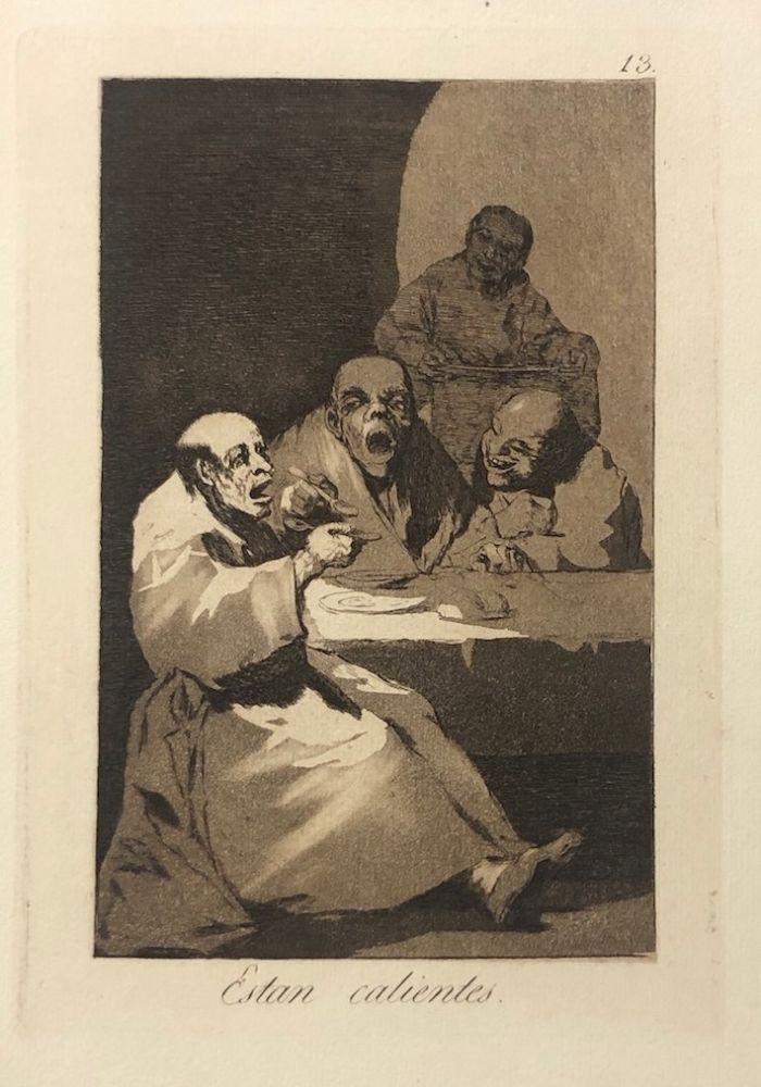 Engraving Goya - Capricho 13. Están calientes