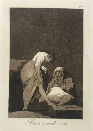 Engraving Goya - Capricho 17. Bien tirada está