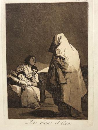 Engraving Goya - Capricho 3. Que viene el coco