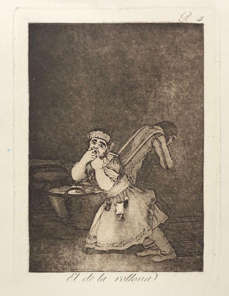 Engraving Goya - Capricho 4. El de la rollona
