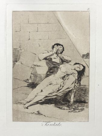 Engraving Goya - Capricho 9. Tantalo