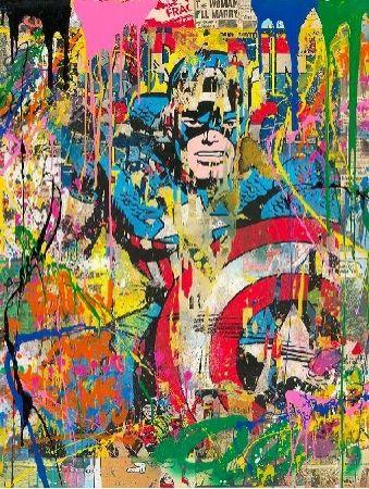 Screenprint Mr Brainwash - Captain America, 2020