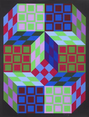 Screenprint Vasarely - Carden