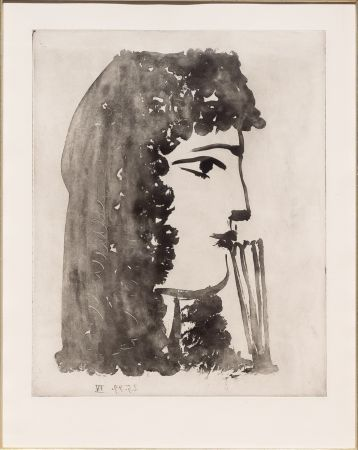 Aquatint Picasso - Carmen, de Profil