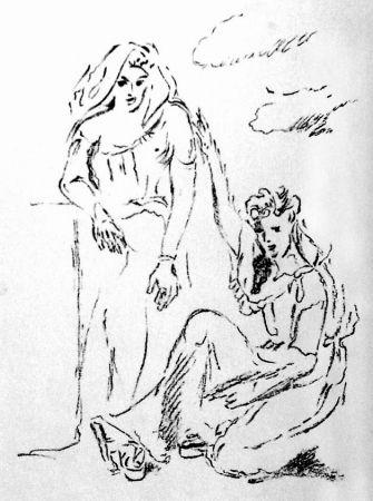 Lithograph De Pisis - Carmi di Catullo XI