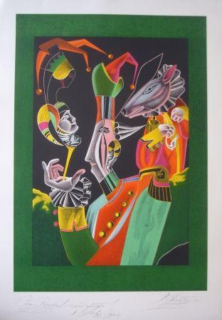 Lithograph Chemiakin - Carnaval