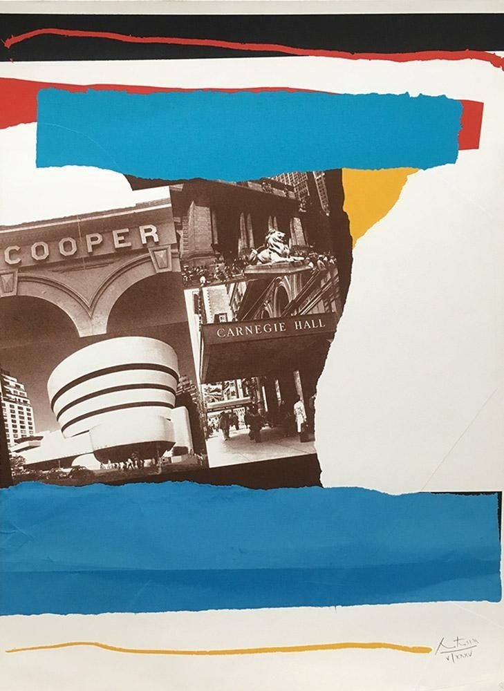 Lithograph Motherwell - Carnegie Hall