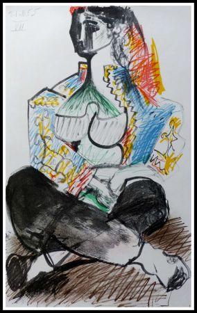 Lithograph Picasso (After) - CARNET DE CALIFORNIE VIII
