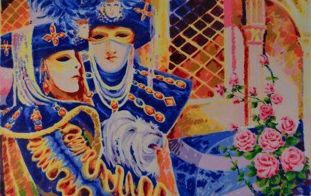 Screenprint Faccincani - Carnevale veneziano