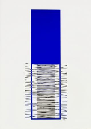 Screenprint Soto - Caroni (Blue)
