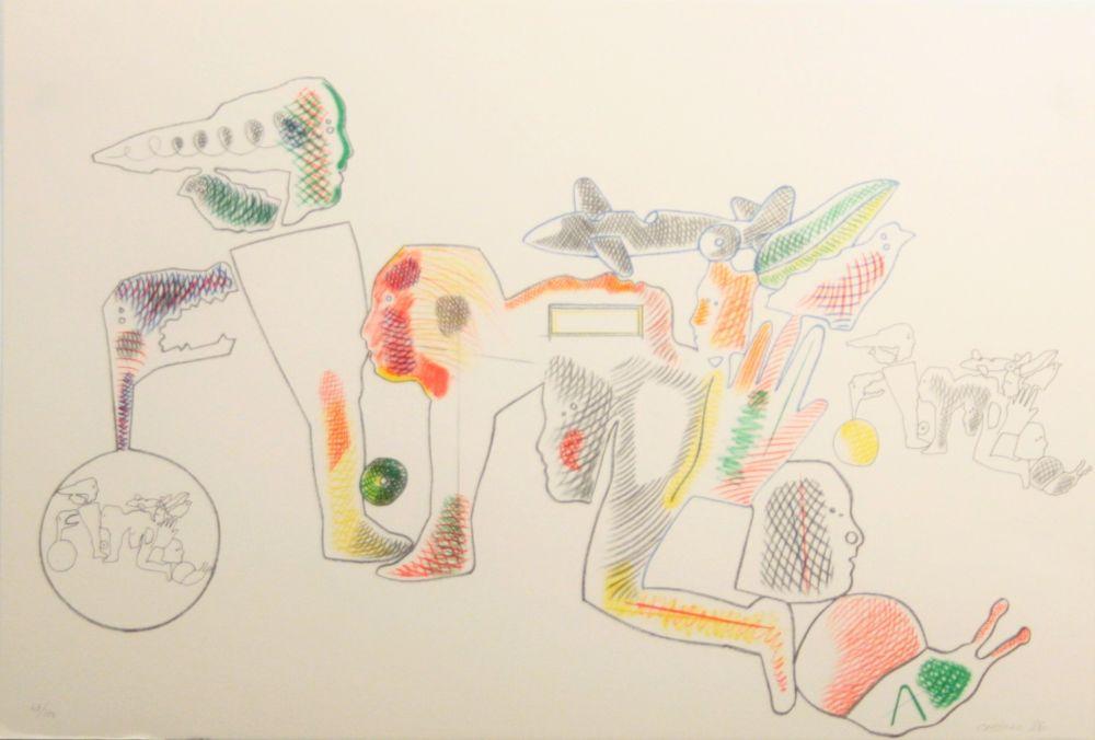 Lithograph Castillo - Carpeta 12 Aniversari Galeria Joan Prats