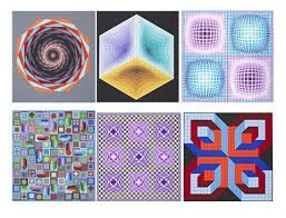Screenprint Vasarely - Carpeta Jalons