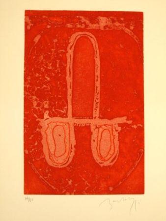 Engraving Bartolozzi - CARRO EN ROJO