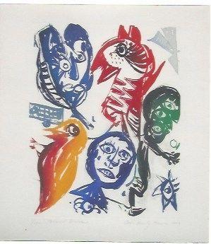 Aquatint Pedersen - Carrousel d'oiseaux