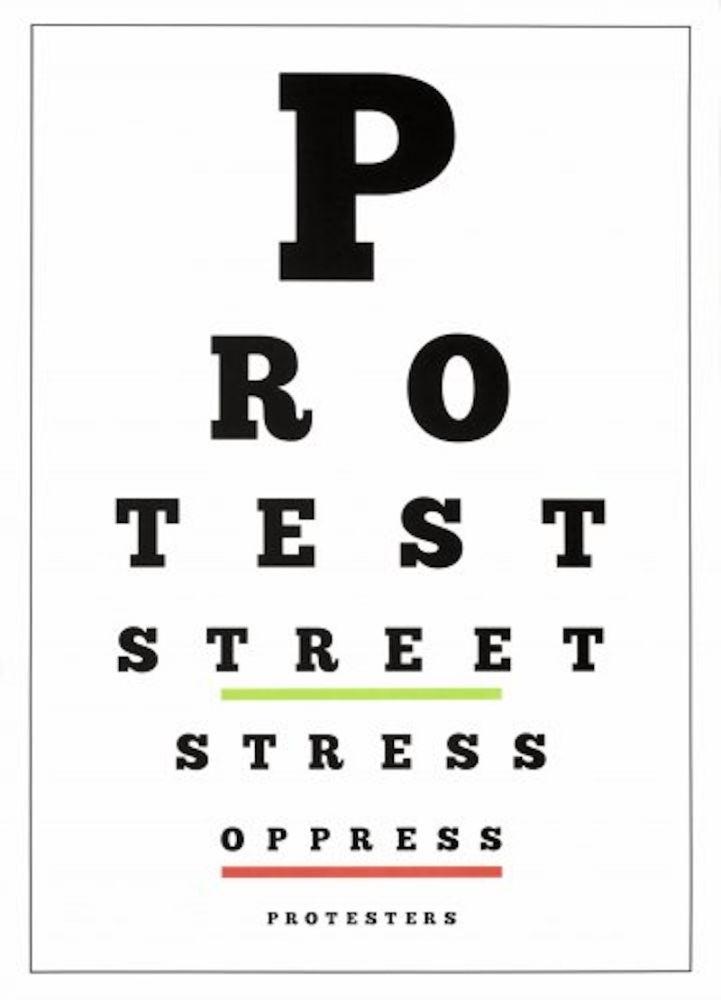 Lithograph Navarro - Carta Visual (Protest)