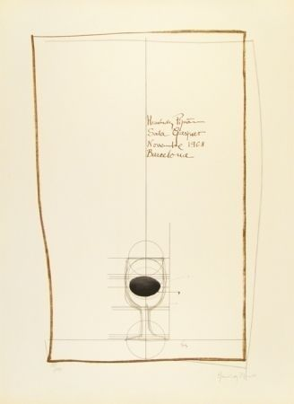 Lithograph Hernandez Pijuan - Cartel exposición Sala Gaspar