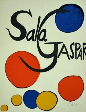 Lithograph Calder - Cartel Sala Gaspar
