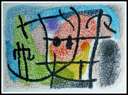 Lithograph Miró - CARTONES