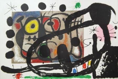Lithograph Miró - Cartons