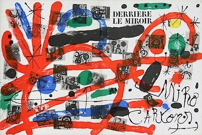 Lithograph Miró - Cartons, copertina