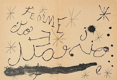 Lithograph Miró - Cartons pg.13