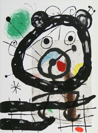 Lithograph Miró - Cartons pg.28