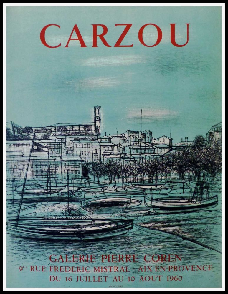 Poster Carzou - CARZOU GALERIE PIERRE COREN, AIX EN PROVENCE