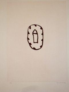 Etching And Aquatint Hernandez Pijuan - Casa amb jardi 3