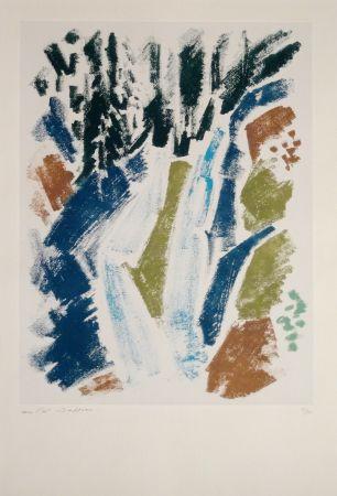 Engraving Masson - Cascade bleue