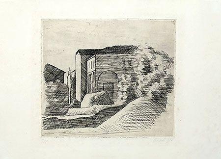 Etching Morandi - Casetta