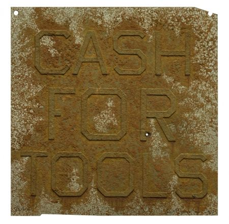 Multiple Ruscha - Cash For Tools 2, from Rusty Signs