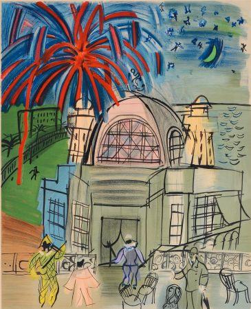 Lithograph Dufy - CASINO-NIZZA