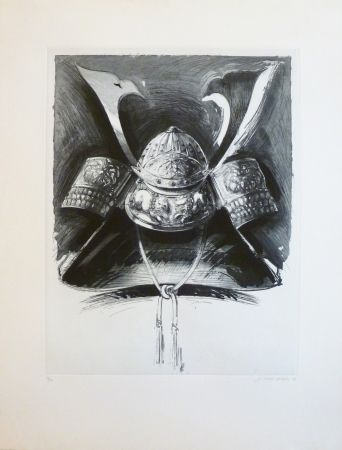 Etching And Aquatint Titus Carmel - Casque de Nikko 2
