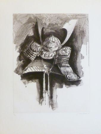 Etching And Aquatint Titus Carmel - Casque de Nikko IV