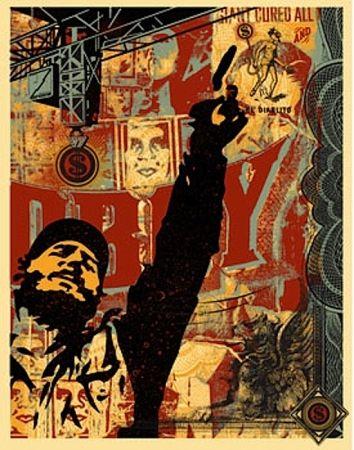 Screenprint Fairey - Castro Collage